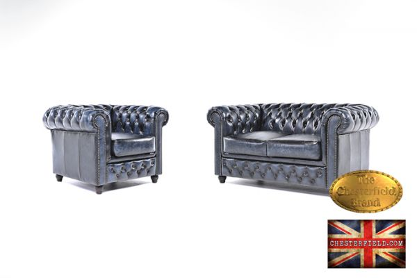 Conjunto sofás chester antique -auténtic chesterfield brand -hecho a mano
