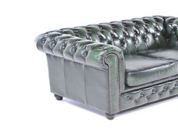 Sofá chester brighton -auténtic chesterfield brand -cuero -hecho a mano