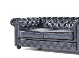 Auténtic chesterfield brand sofá-3 plazas-hecho a mano